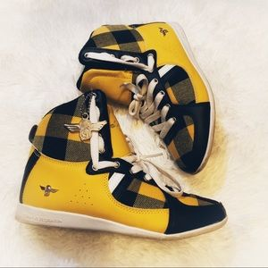 Creative Recreation Yellow & Black Plaid Sneakers